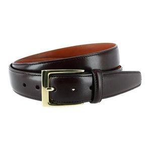Trafalgar Classic Cortina Leather Belt Dark Brown